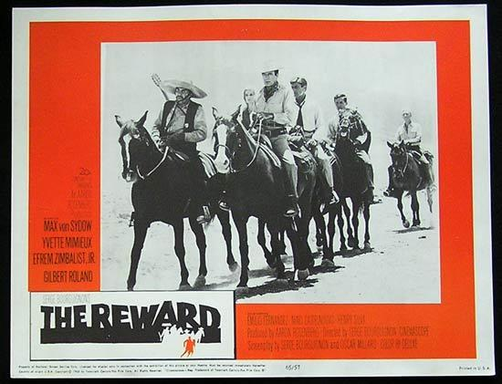 REWARD '65 Max Von Sydow-Yvette Mimieux US Lobby card #4