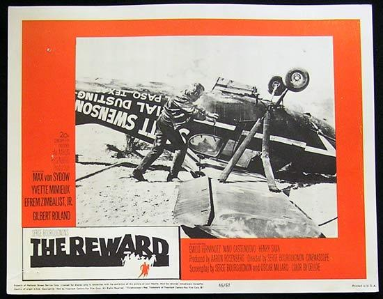 REWARD '65 Max Von Sydow-Yvette Mimieux US Lobby card #5