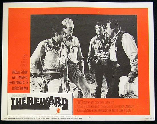 REWARD '65 Max Von Sydow-Yvette Mimieux US Lobby card #6