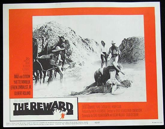 REWARD '65 Max Von Sydow-Yvette Mimieux US Lobby card #7