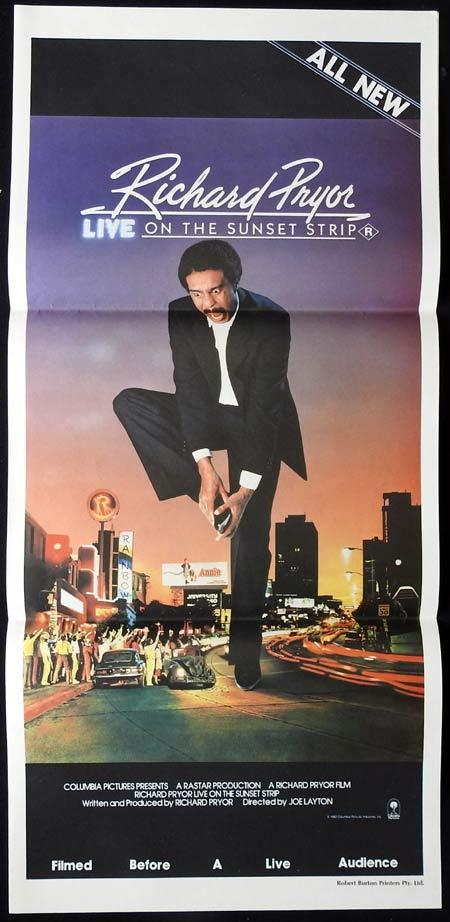 RICHARD PRYOR LIVE ON THE SUNSET STRIP Original daybill Movie Poster
