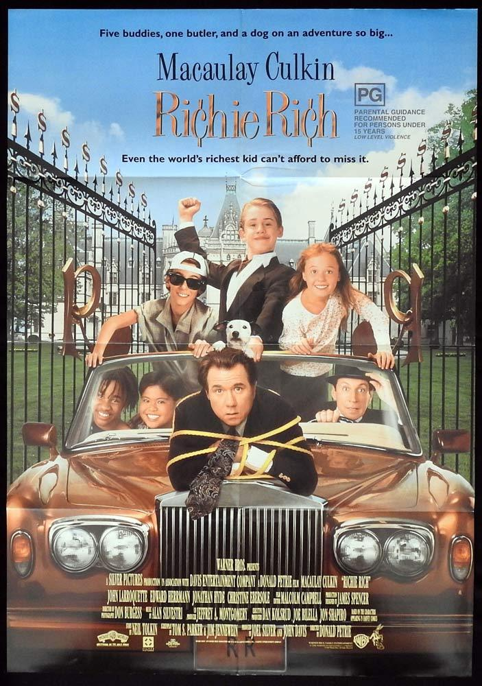 RICHIE RICH Original One sheet Movie poster Macaulay Culkin