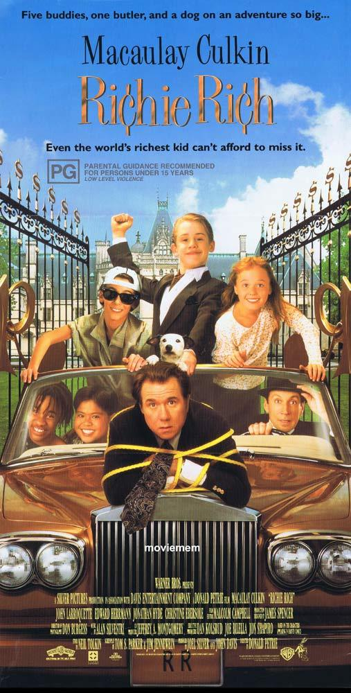 RICHIE RICH Original Daybill Movie poster Macaulay Culkin