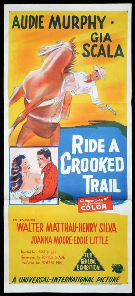 Ride A Crooked Trail Original Daybill Movie Poster Audie Murphy Gia Scala Moviemem Original Movie Posters