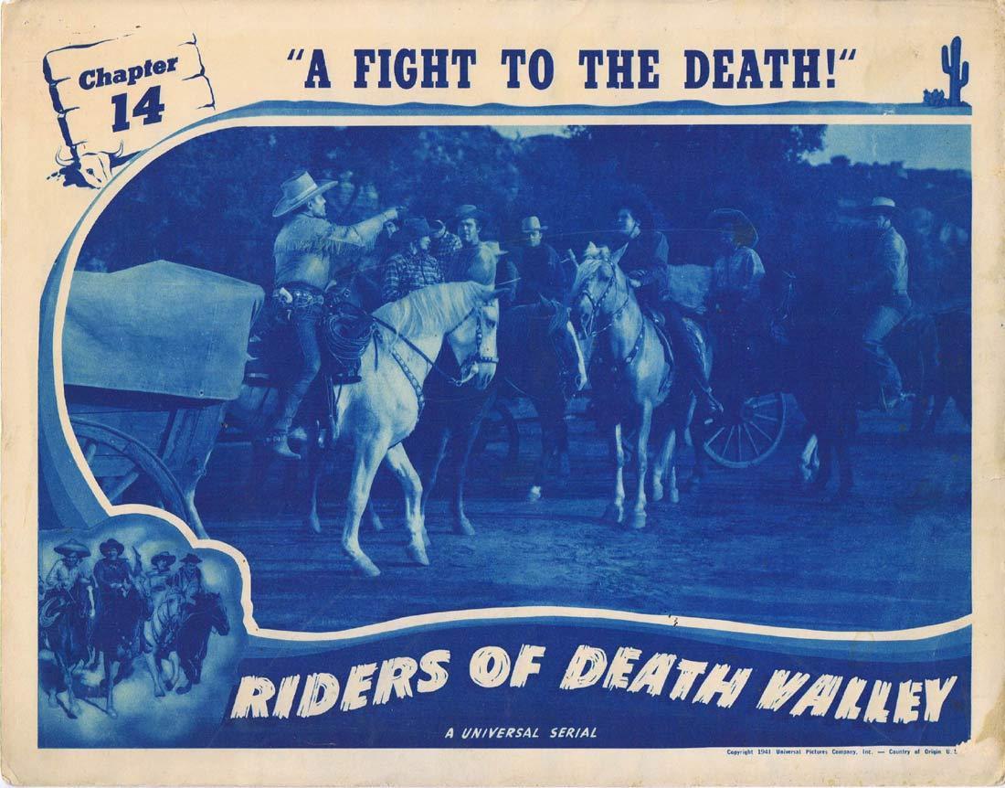 RIDERS OF DEATH VALLEY Original Lobby Card Universal Serial Dick Foran Buck Jones Chapt 14