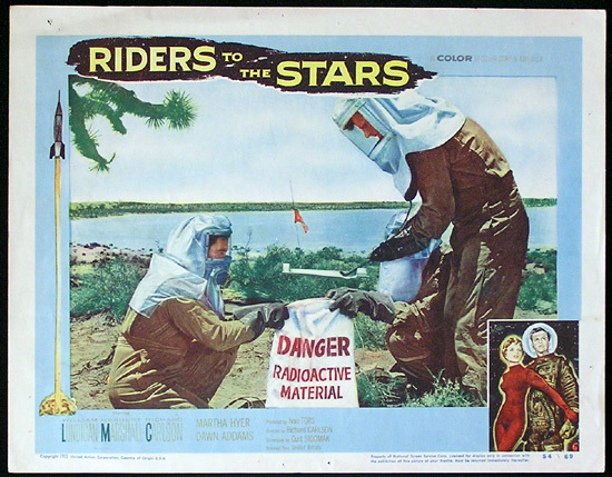 RIDERS TO THE STARS 1954 Richard Carlson SCI FI Lobby Card