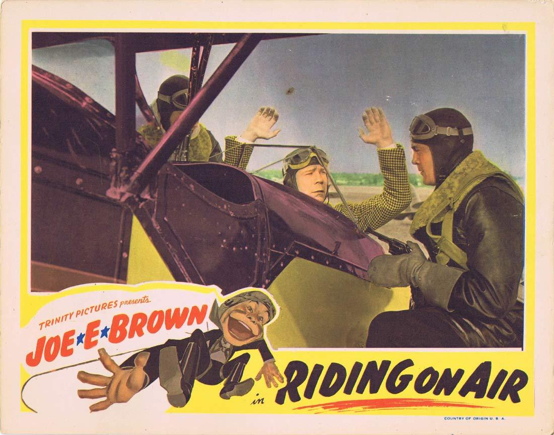 RIDING ON AIR Original Lobby Card 3 Joe E. Brown Guy Kibbee Florence Rice 1937