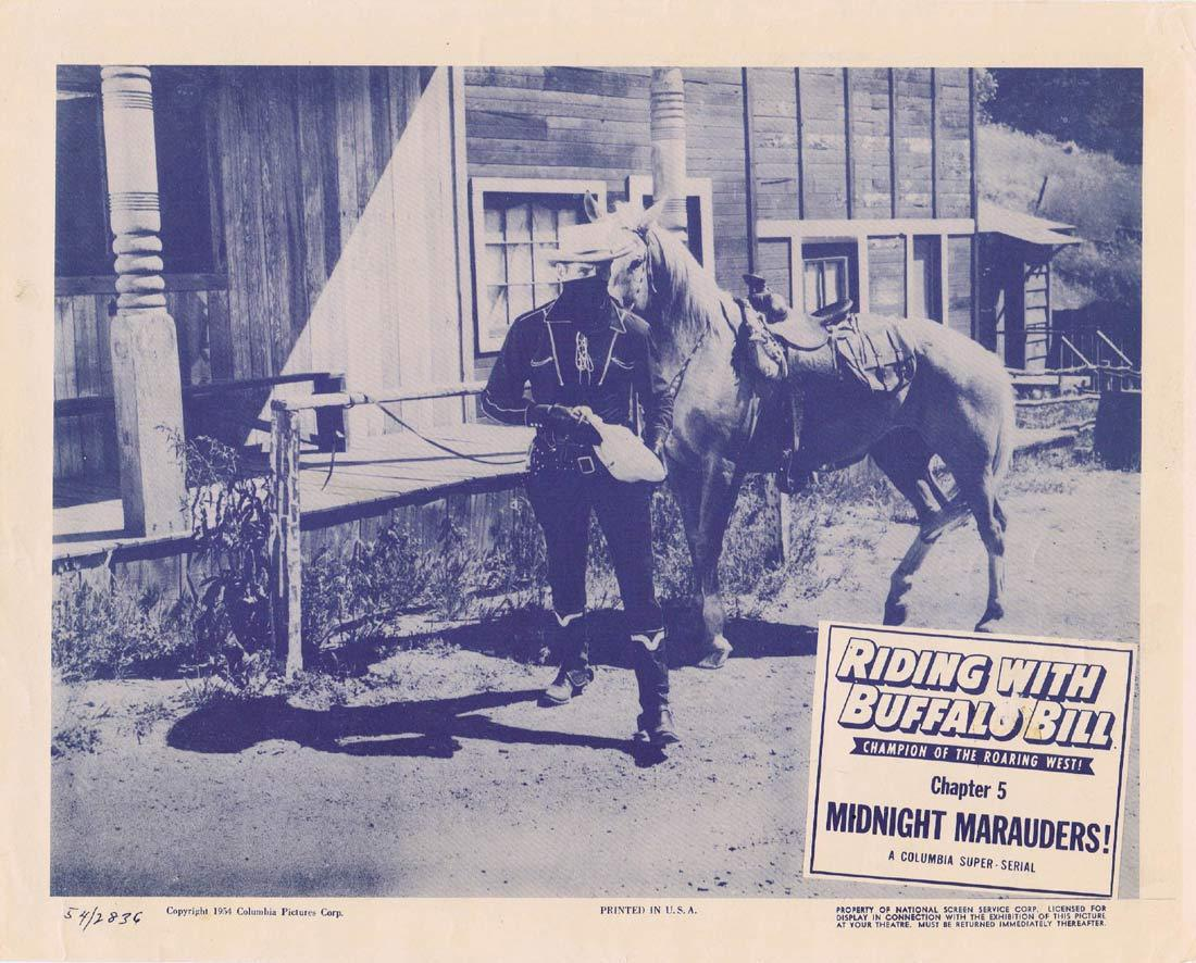RIDING WITH BUFFALO BILL Original Lobby Card Chapter 5 Columbia Serial Marshall Reed