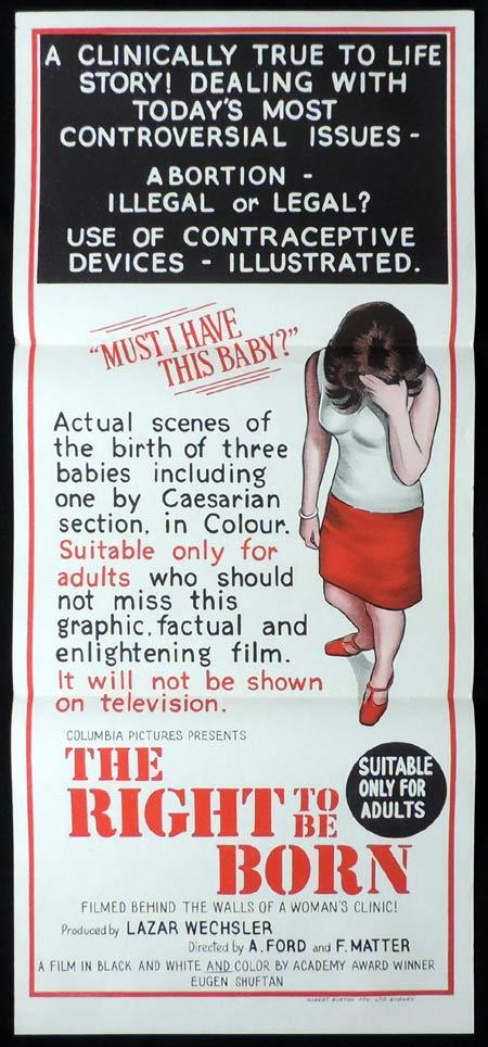 THE RIGHT TO BE BORN Original Daybill Movie Poster Aurora Bautista