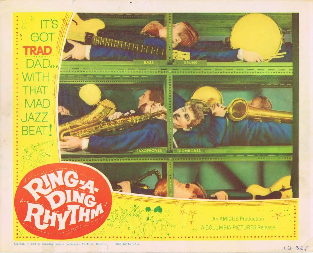RING A DING RHYTHM Original Lobby Card 2 Trad Jazz Amicus