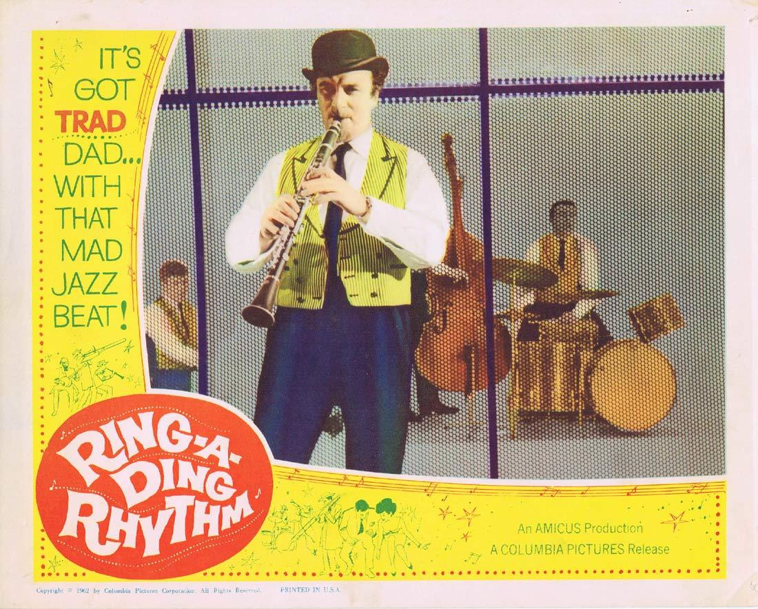 RING A DING RHYTHM Original Lobby Card 2 Jazz Acker Bilk