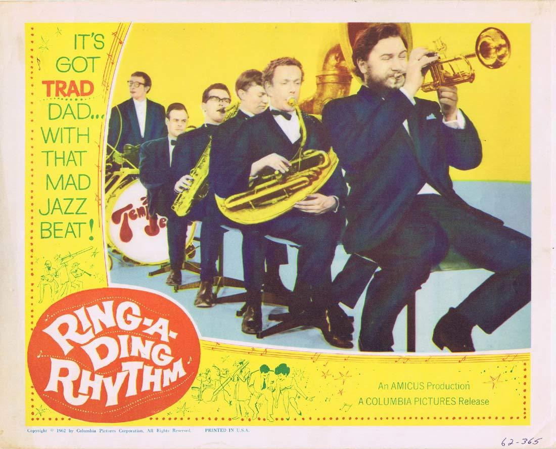 RING A DING RHYTHM Original Lobby Card 3 Jazz Temperence Seven
