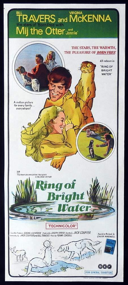 RING OF BRIGHT WATER Original Daybill Movie Poster Bill Travers Virginia McKenna Otter