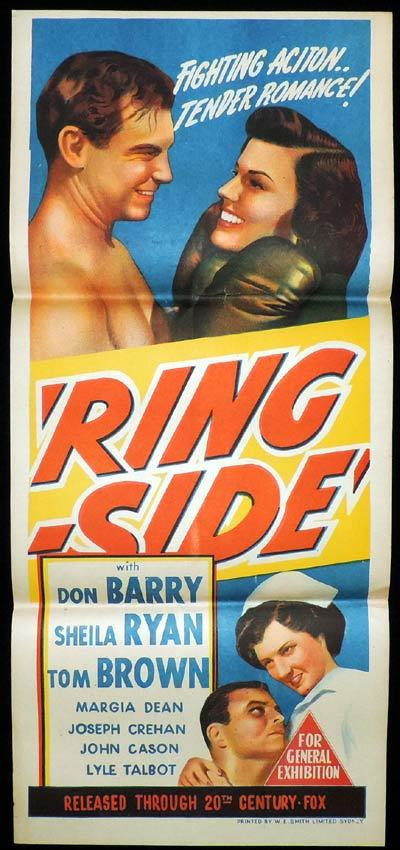 RING SIDE Daybill Movie Poster Mamie Don Red Barry Boxing Ring-side