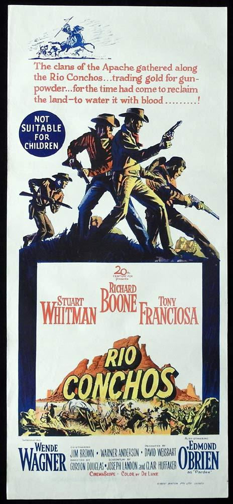 RIO CONCHOS Original Daybill Movie Poster Richard Boone
