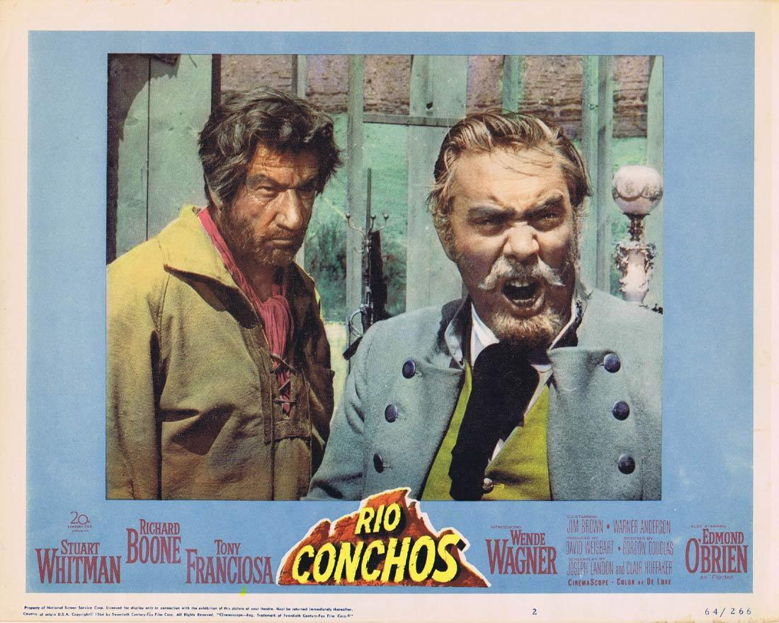 RIO CONCHOS Lobby Card 2 Richard Boone Stuart Whitman Tony Franciosa Edmond O'Brien