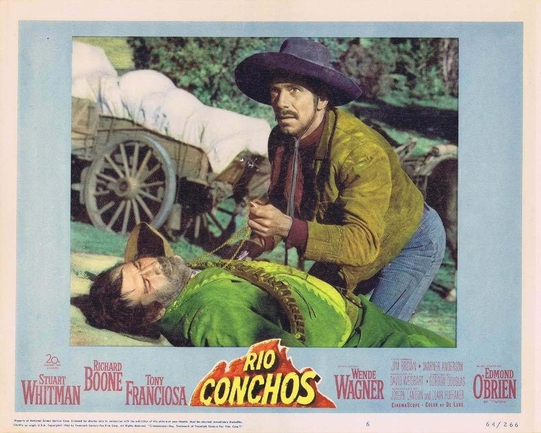 RIO CONCHOS Lobby Card 6 Richard Boone Stuart Whitman Tony Franciosa Edmond O'Brien