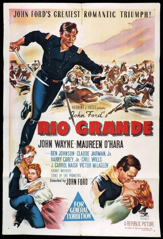 RIO GRANDE Original One sheet Movie Poster JOHN WAYNE John Ford