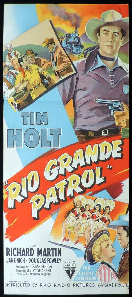 RIO GRANDE PATROL Original Daybill Movie Poster RKO Tim Holt