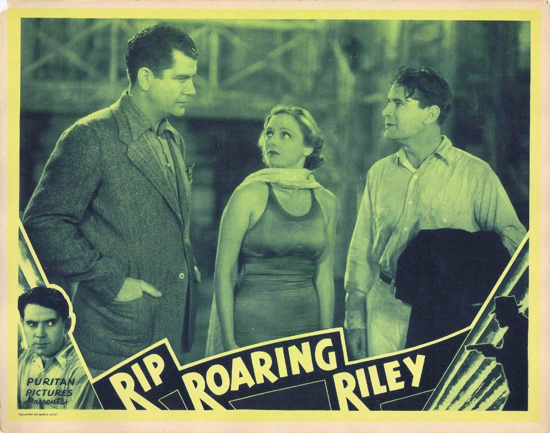 RIP ROARING RILEY Original Lobby Card 2 Lloyd Hughes Marion Burns Grant Withers