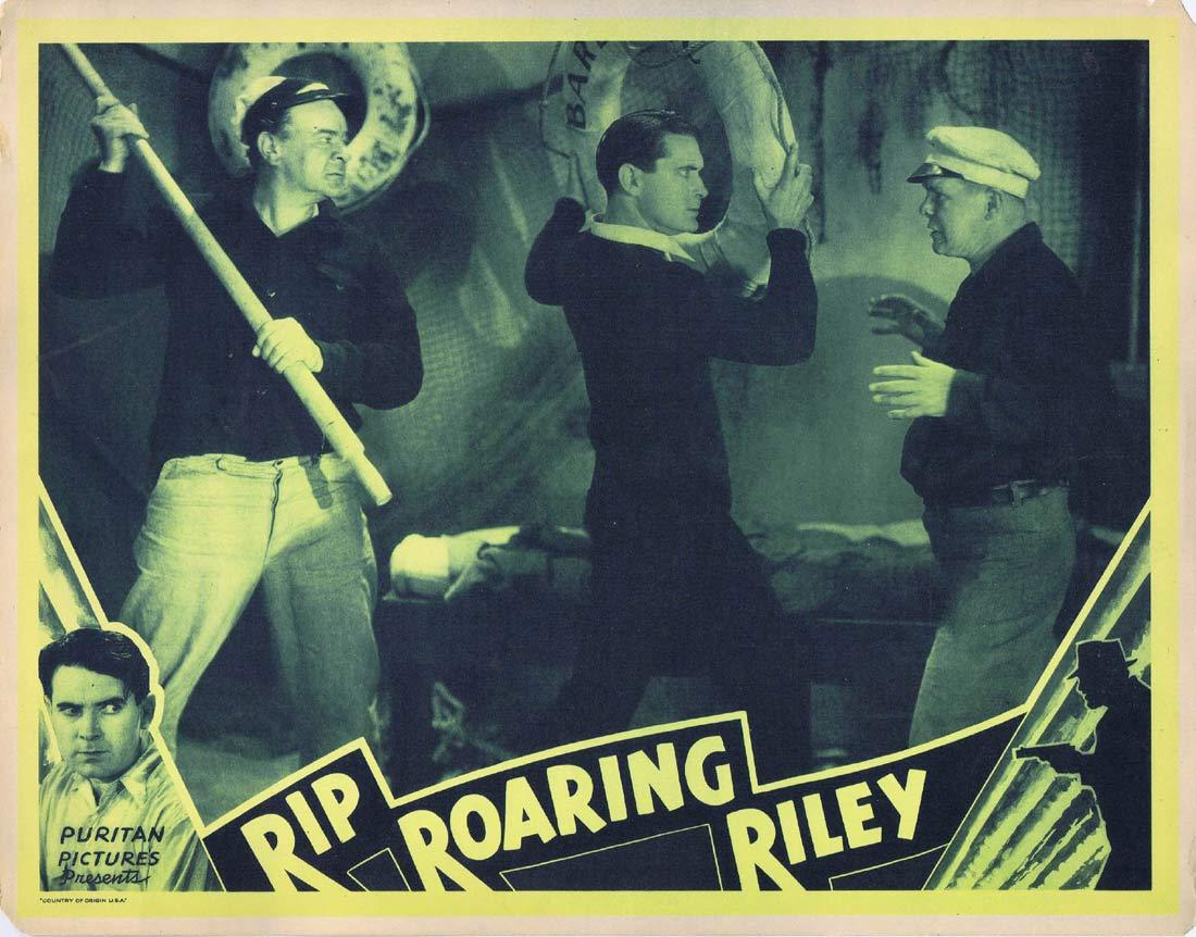 RIP ROARING RILEY Original Lobby Card 3 Lloyd Hughes Marion Burns Grant Withers