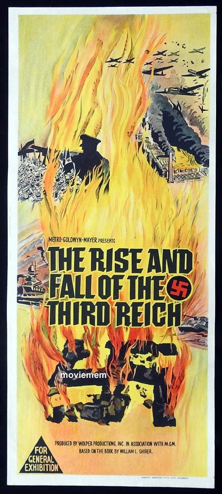 THE RISE AND FALL OF THE THIRD REICH Original Daybill Movie Poster Richard Basehart