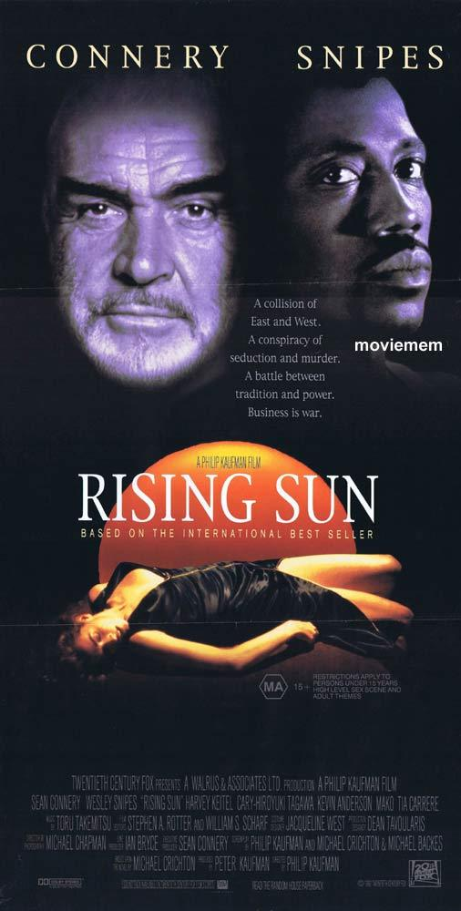 RISING SUN Original Daybill Movie Poster Sean Connery Wesley Snipes