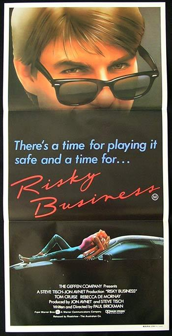 RISKY BUSINESS Original Daybill Movie poster Tom Cruise Rebecca De Mornay