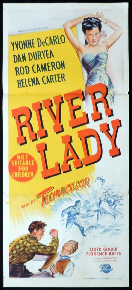 RIVER LADY Original Daybill Movie Poster Yvonne De Carlo Dan Duryea