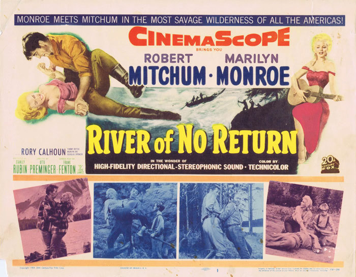 RIVER OF NO RETURN Marilyn Monroe Original Title Lobby Card
