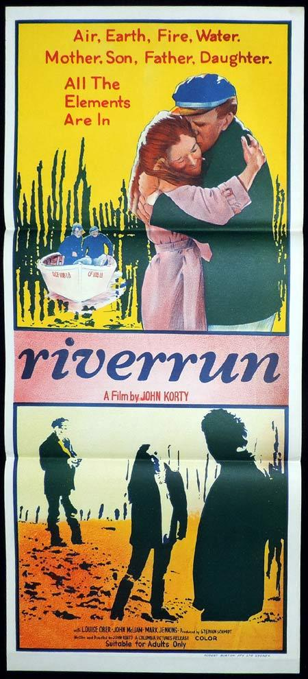 RIVERRUN Original Daybill Movie Poster Orion DeWinter