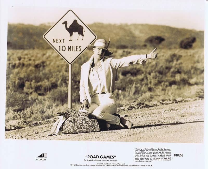 ROAD GAMES Original Movie Still 3 Jamie Lee Curtis Richard Franklin