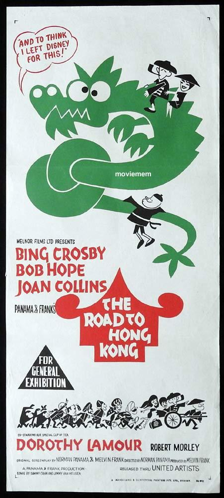 THE ROAD TO HONG KONG Original Daybill Movie Poster Bing Crosby Bob Hope Joan Collins