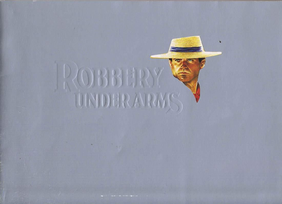 ROBBERY UNDER ARMS Original Movie Promo Booklet Sam Neill