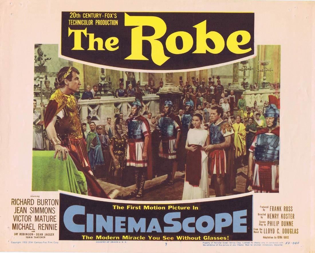 THE ROBE Vintage Lobby Card 7 Richard Burton Jean Simmons