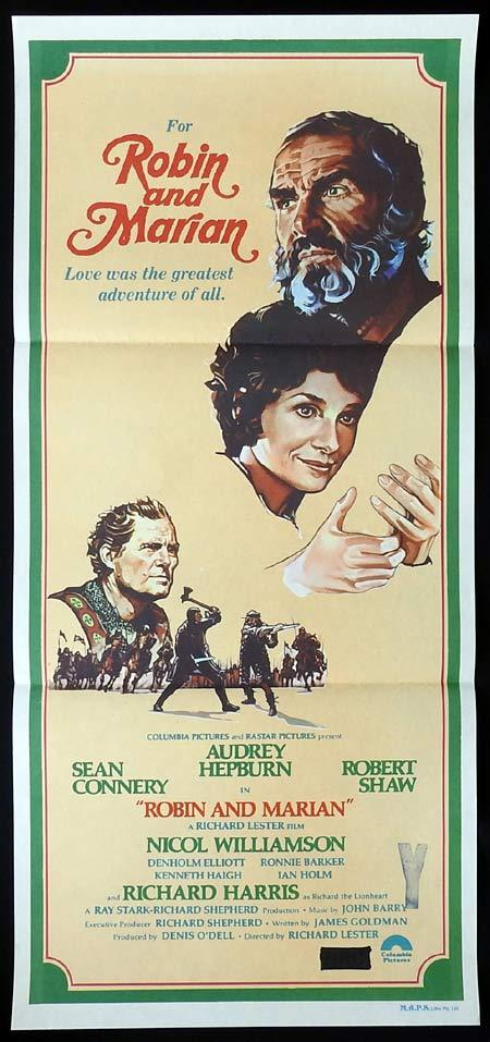 ROBIN AND MARIAN Original Daybill Movie Poster udrey Hepburn Sean Connery