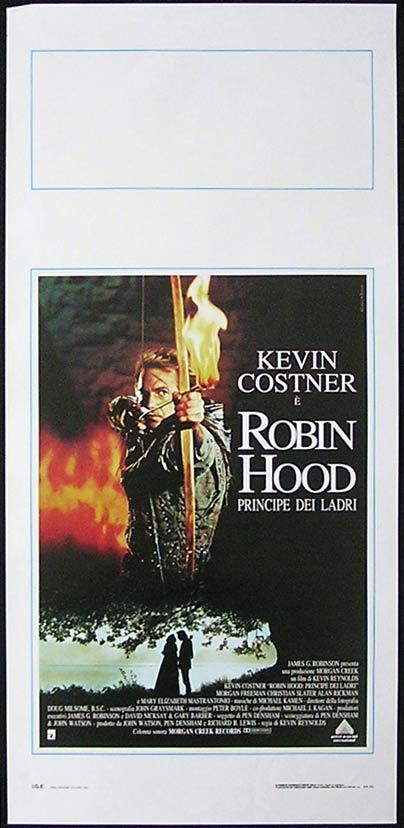 ROBIN HOOD PRINCE OF THIEVES Italian Locandina Movie Poster Kevin Costner