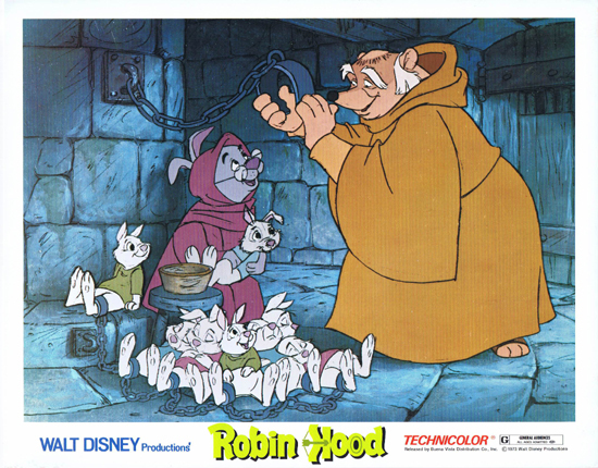 Robin Hood Lobby Card 3 Walt Disney Productions Peter Ustinov