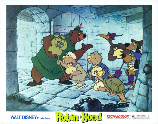 ROBIN HOOD Lobby Card 4 Walt Disney Productions Peter Ustinov
