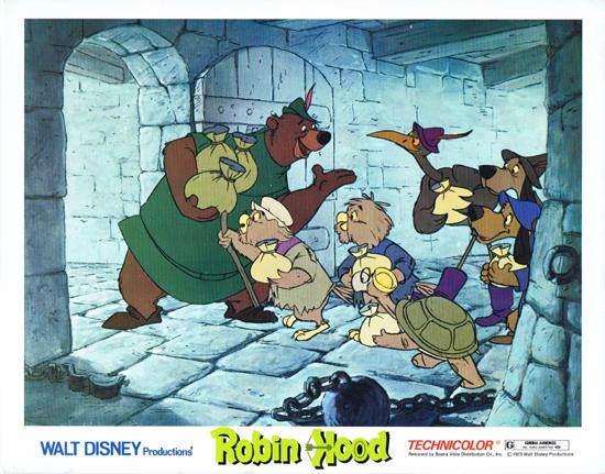Robin Hood Lobby Card 4 Walt Disney Productions Peter Ustinov