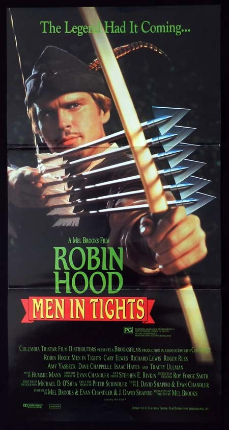 ROBIN HOOD MEN IN TIGHTS Original Daybill Movie Poster Cary Elwes