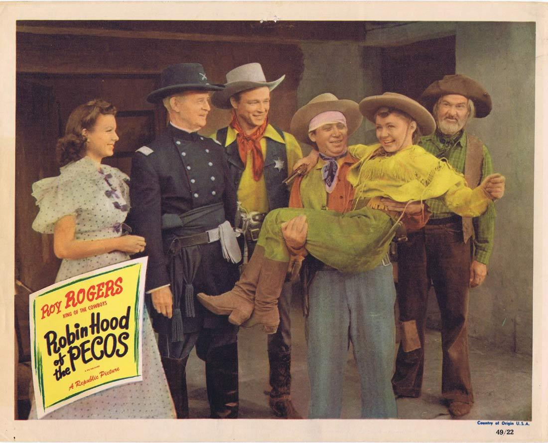 ROBIN HOOD OF THE PECOS Original Lobby Card Roy Rogers 1949r