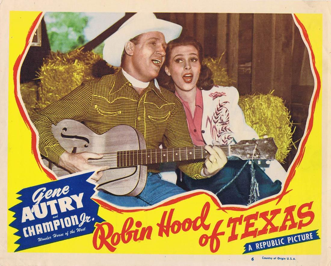 ROBIN HOOD OF TEXAS Original Lobby Card Gene Autry Lynne Roberts Sterling Holloway