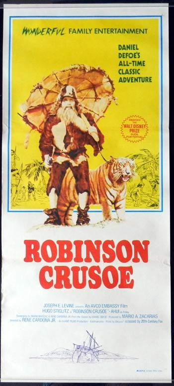 ROBINSON CRUSOE AND THE TIGER 1969 Original Daybill Movie poster
