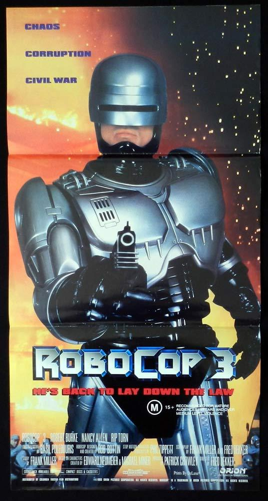 ROBOCOP 3 Original Daybill Movie Poster Robert John Burke Mario Machado
