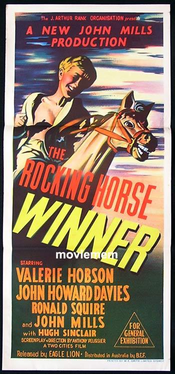THE ROCKING HORSE WINNER 1949 British Cinema Classic Australian daybill