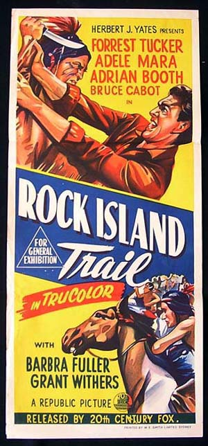 ROCK ISLAND TRAIL Daybill Movie poster Forrest Tucker RARE poster