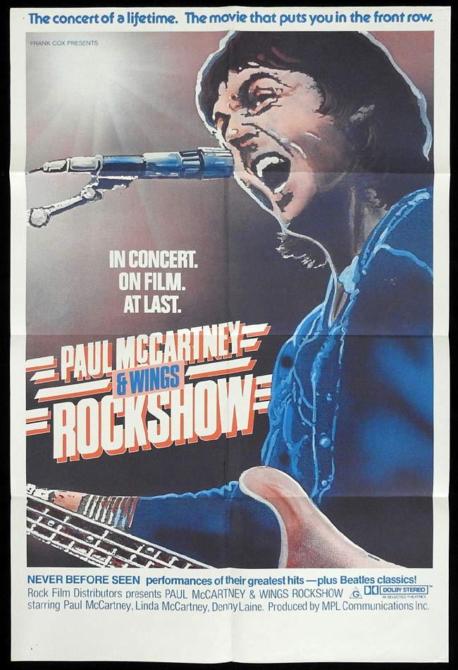 ROCKSHOW Original One sheet Movie poster Paul McCartney and Wings