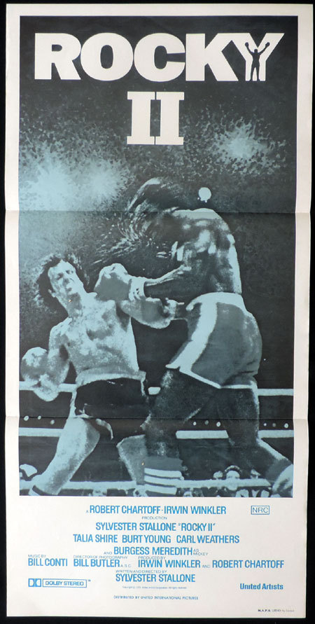 ROCKY II 1979 Sylvester Stallone VINTAGE Daybill Movie Poster