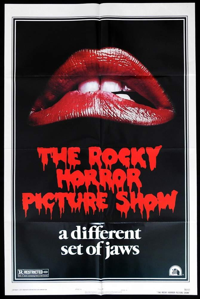 THE ROCKY HORROR PICTURE SHOW Original US One sheet Movie poster Jaws art